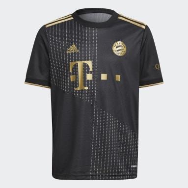 Camisa 2 FC Bayern 21/22 Preto Meninos Futebol
