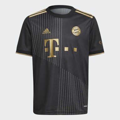 Camiseta segunda equipación FC Bayern 21/22 Negro Niño Fútbol