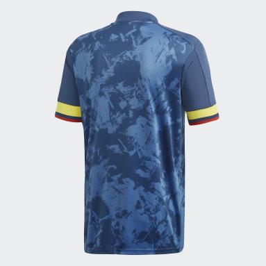 Jersey de visitante Colombia Azul Hombre Fútbol