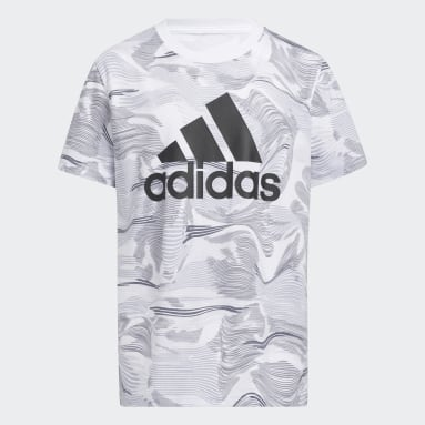 Youth Training White Camo Allover Print Tee