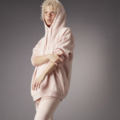 Sudadera con Gorro Hyperglam Holgada Rosa Mujer Sportswear