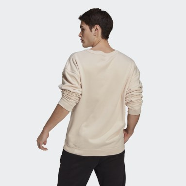 Sweat-shirt R.Y.V. Silicone Double Linear Badge Crew Beige Hommes Originals