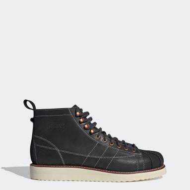 черный Ботинки Superstar