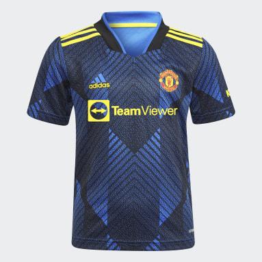 Kinder Fußball Manchester United 21/22 Mini-Ausweichausrüstung Blau