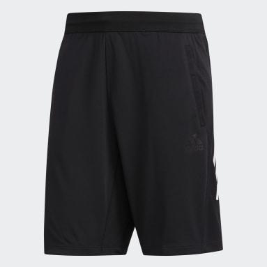 Men Studio Black 3-Stripes 9-Inch Shorts