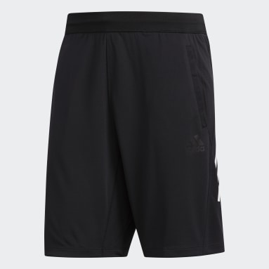 Muži Fitko černá Šortky 3-Stripes 9-Inch