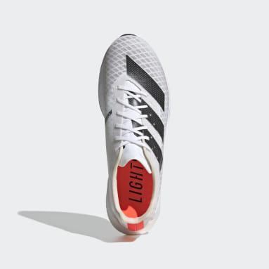 Running White Adizero Pro Shoes