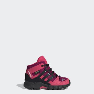 Kids TERREX Burgundy Terrex Mid GTX Shoes