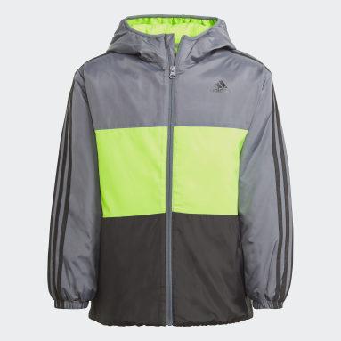 Boys Fitness Og Træning Sort Colourblock Insulated jakke