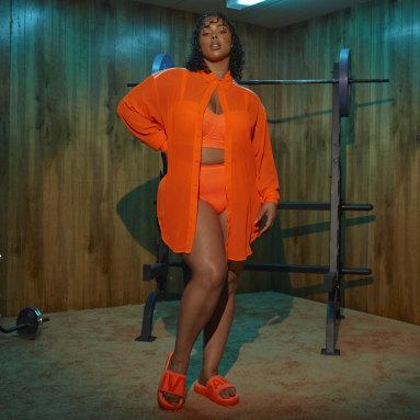 Women's Originals Orange Swim Cover-Up Shirt (Plus Size)