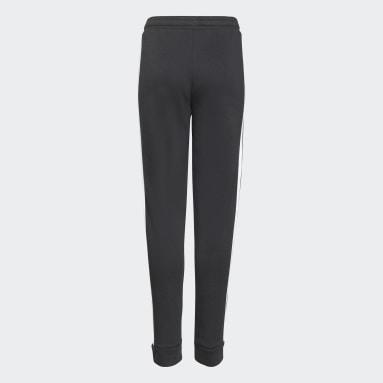Pantalón adidas Essentials 3 Tiras Felpa Francesa Negro Niña Training