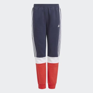 Pantaloni adidas Essentials Colorblock Blu Ragazzo Sportswear