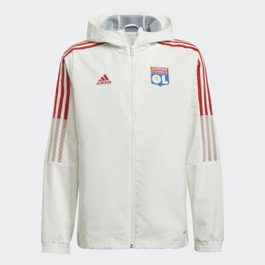Děti Fotbal bílá Prezentační bunda Olympique Lyonnais Tiro