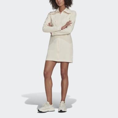 Frauen Originals adicolor Track Kleid Weiß