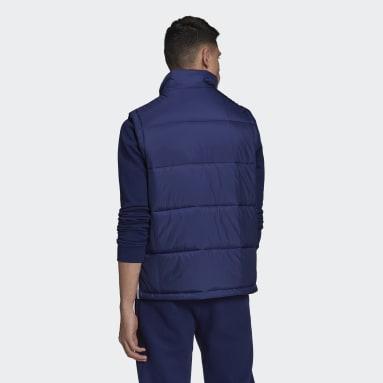Muži Originals modrá Vesta Padded Stand-Up Collar Puffer