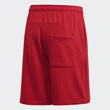 ผู้ชาย Sport Inspired สีแดง กางเกงขาสั้น Must Haves Badge of Sport
