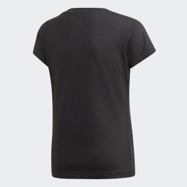 Maglia Essentials Linear Nero Ragazza Sportswear
