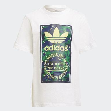 Camiseta Camo Print Graphic Blanco Niño Originals