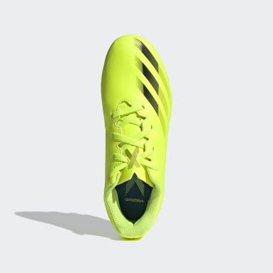 Calzado de Fútbol X Ghosted.4 Multiterreno Amarillo Niño Fútbol