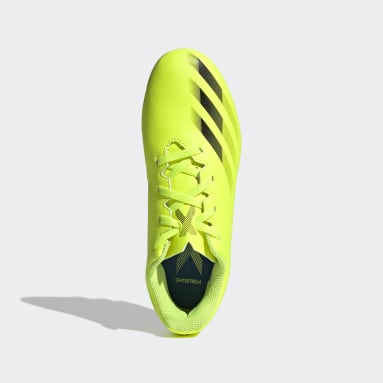 Children Soccer Yellow X Ghosted.4 Flexible Ground Cleats