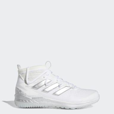 Men's Baseball White Adizero Afterburner 8 NWV Turf Shoes