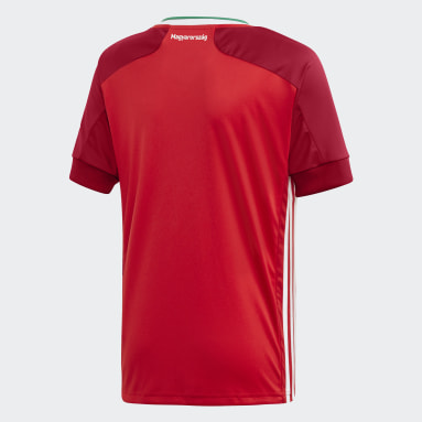 Kids Football Red Hungary Home Jersey