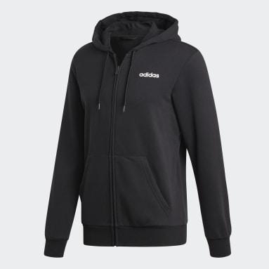 Chaqueta con capucha Essentials Plain Negro Hombre Sportswear