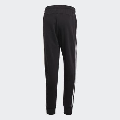 Pantalón Cónico Puño Ajustado Essentials 3 Tiras Negro Hombre Diseño Deportivo