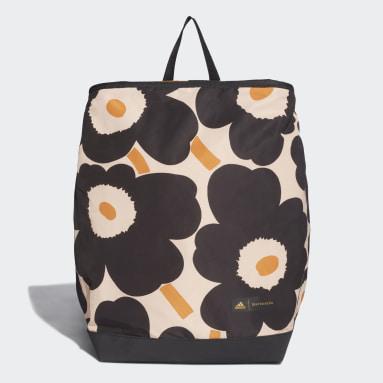 Women Studio Black Marimekko Unikko Allover-Print Backpack