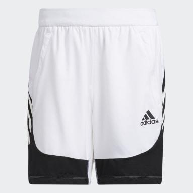 Pantalón corto AEROREADY Slim 3 bandas Blanco Hombre Gimnasio Y Entrenamiento