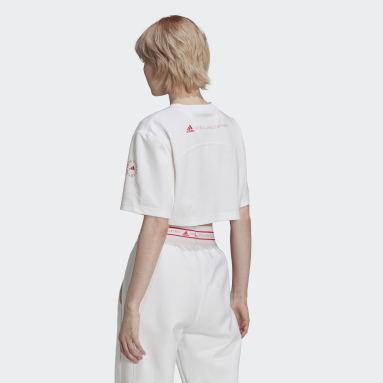 Women's adidas by Stella McCartney White adidas by Stella McCartney Future Playground Cropped Tee