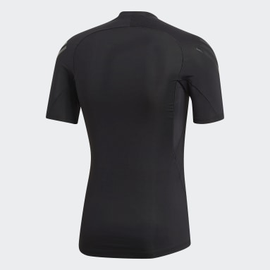 Men Winter Sports Black Alphaskin Tech 3-Stripes T-Shirt