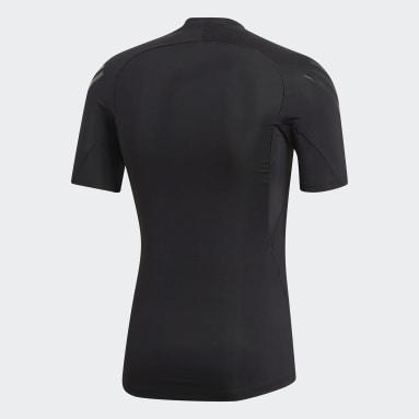 Men Trail Running Black Alphaskin Tech 3-Stripes Tee