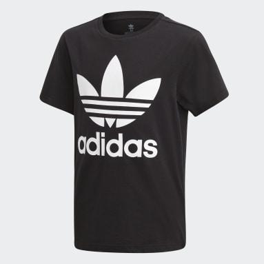 Camiseta Trefoil Preto Kids Originals