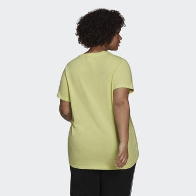 Women's Originals Yellow Adicolor Classics Trefoil Tee (Plus Size)