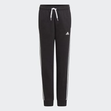 Boys Sportswear Black adidas Essentials 3-Stripes Joggers