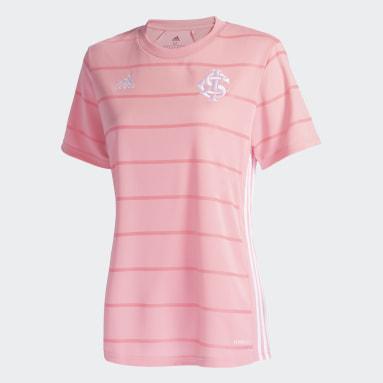 Camisa Outubro Rosa Internacional Feminina Rosa Mulher Futebol