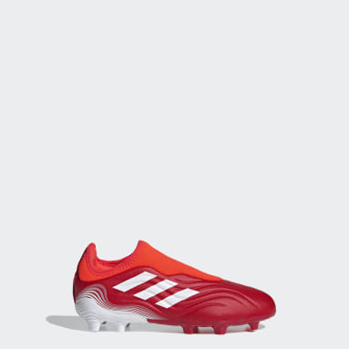 Kids Football Red Copa Sense.3 Laceless Firm Ground Boots