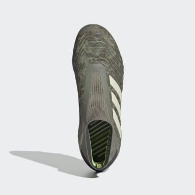 Bota de fútbol Predator 19+ césped natural seco Verde Niño Fútbol