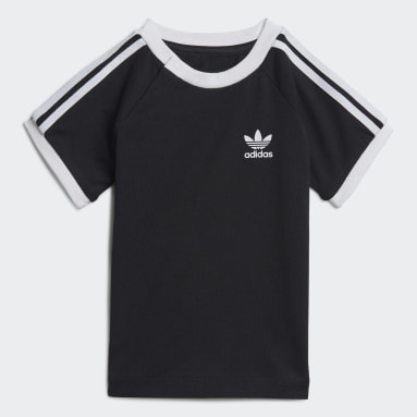 Kinderen Originals Zwart 3-Stripes T-shirt