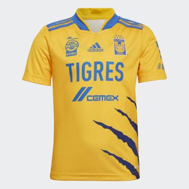 Mini Uniforme Local Tigres UANL 21/22 Amarillo Niño Fútbol