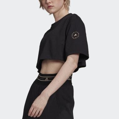 adidas by Stella McCartney Future Playground Cropped T-skjorte Svart