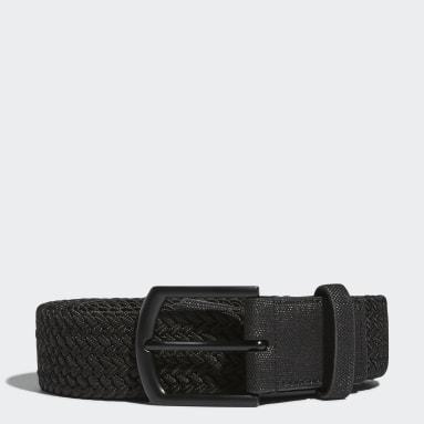 Golf Black Men's Braided Stretch Belt