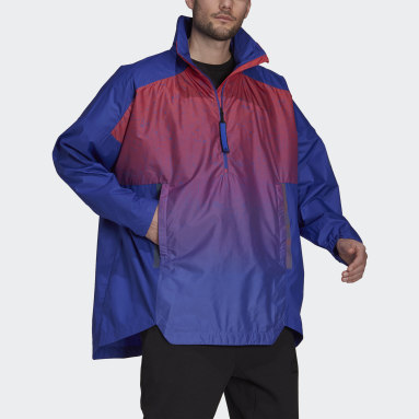 Giacca MYSHELTER Parley WIND.RDY Anorak Viola Uomo City Outdoor