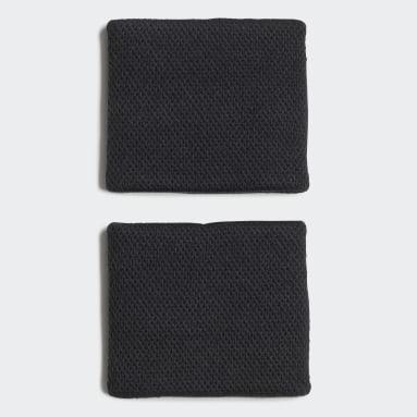 Tennis Black Tennis Wristband Small
