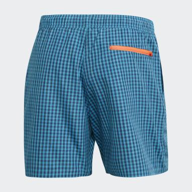 Short de bain Check CLX Turquoise Hommes Sports Nautiques