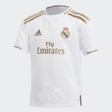 Miniconjunto primera equipación Real Madrid Blanco Niño Fútbol