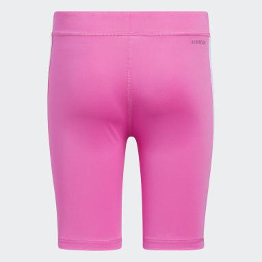 Youth Training Pink 3-Stripes Bike Shorts