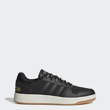 Men Sport Inspired Black Hoops 2.0 Shoes
