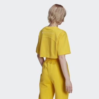 Women adidas by Stella McCartney Yellow adidas by Stella McCartney Future Playground Cropped Tee